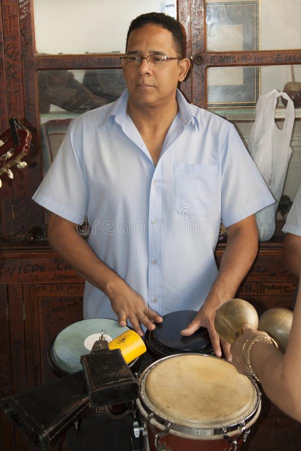 Mojito Куба Гавана бара Hemingway с музыкантом стоковые фото