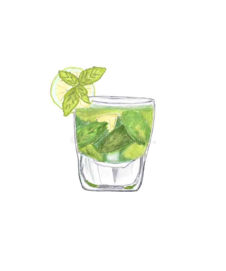 Mojito cocktail stock afbeelding