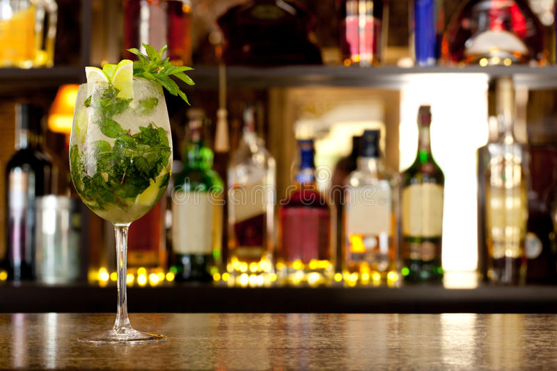 Mojito-Cocktail stockbild