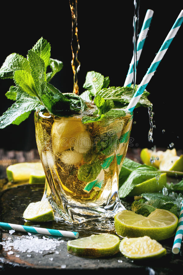 Mojito-Cocktail stockbilder