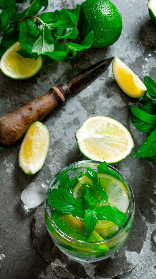 Mojito cocktail imagem de stock
