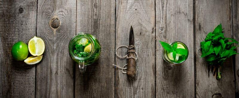 Mojito cocktail stockfotografie