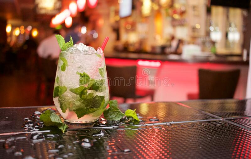 Mojito Cocktail On Bar Free Public Domain Cc0 Image
