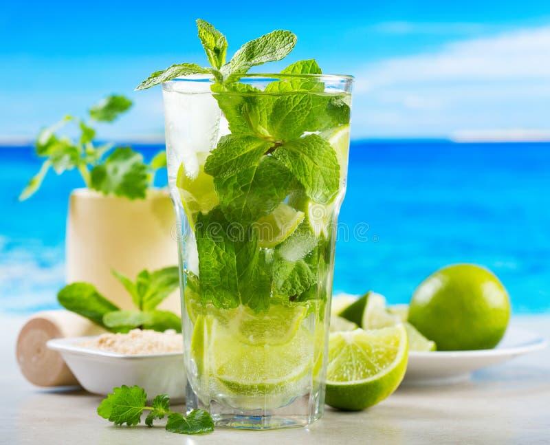 Mojito cocktail stock photo image of juice beach - Service a mojito ...