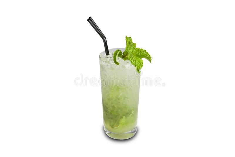 Mojito-Cocktail lokalisiert auf wei?em Hintergrund stockbilder