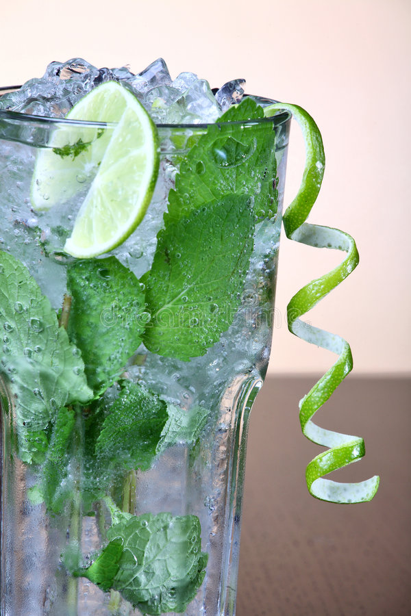 Mojito cocktail with mint leav royalty free stock image