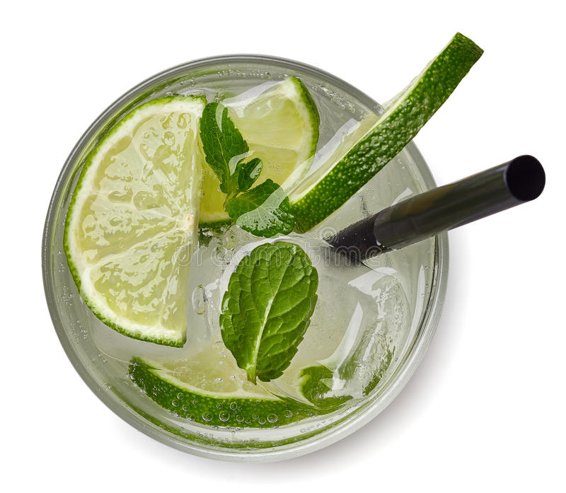 Mojito cocktail or soda drink royalty free stock photography