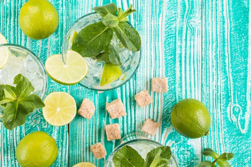 Mojito en verres photographie stock
