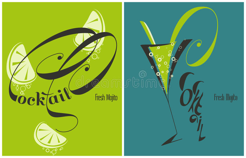 Download Mojito - Fresh Cocktail With Lime And Mint Stock Vector - Image: 29018126