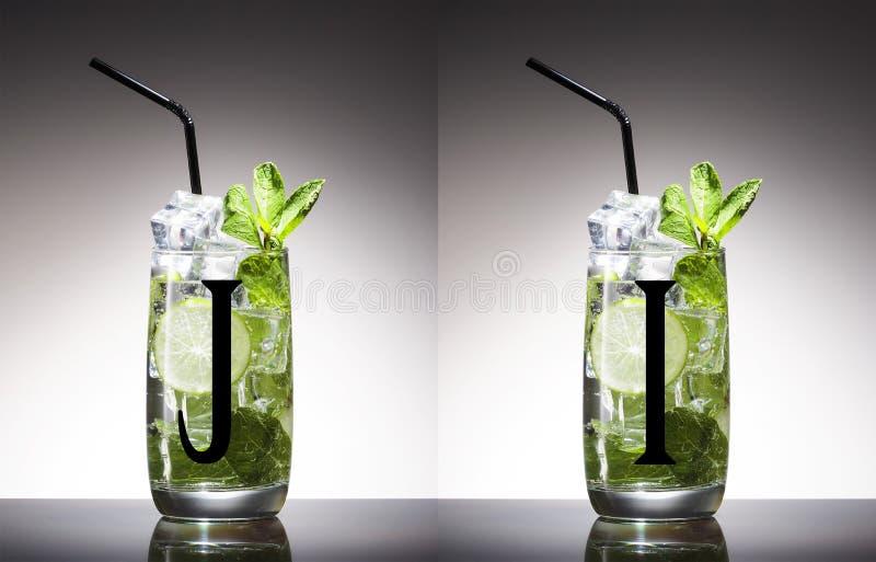 Алкоголь, зеленый цвет, лист, мята, mojito, никто, шевелилка, mixology, mojito, ром, сахар, вкусный, текила, водка, виски стоковое изображение