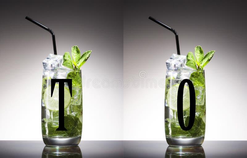 Алкоголь, зеленый цвет, лист, мята, mojito, никто, шевелилка, mixology, mojito, ром, сахар, вкусный, текила, водка, виски стоковые фотографии rf