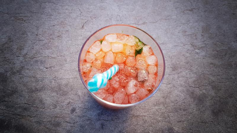 Mojito strawbery stock photos