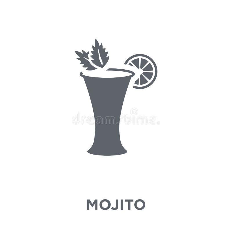 Mojito symbol från drinksamling vektor illustrationer