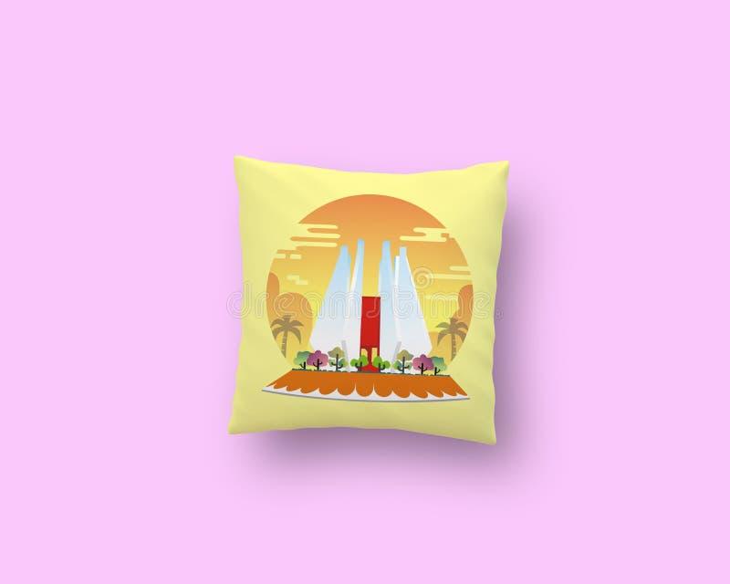 Mojokerto& x27; cuscino di s immagine stock