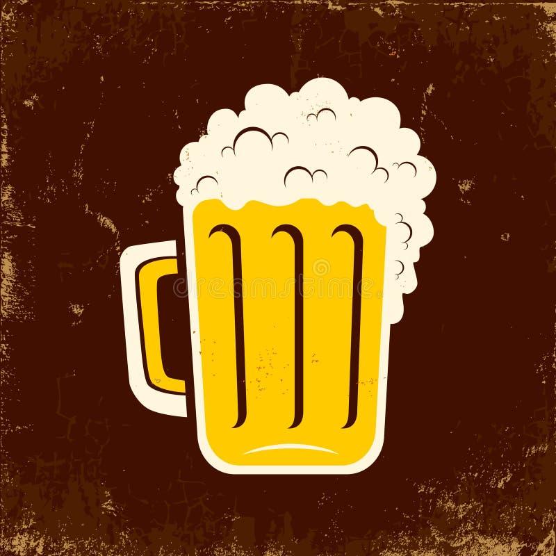 Mok bier vector illustratie