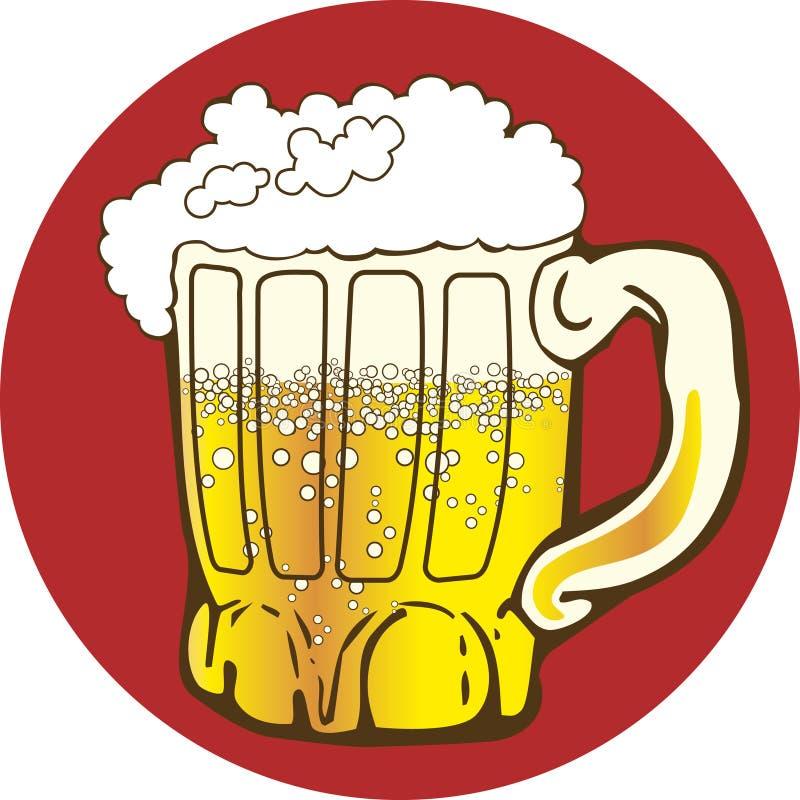 Mok bier stock illustratie
