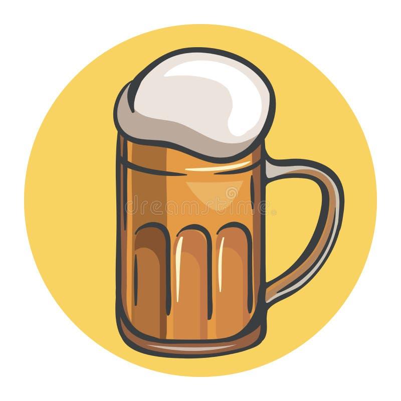 Mok bier royalty-vrije illustratie