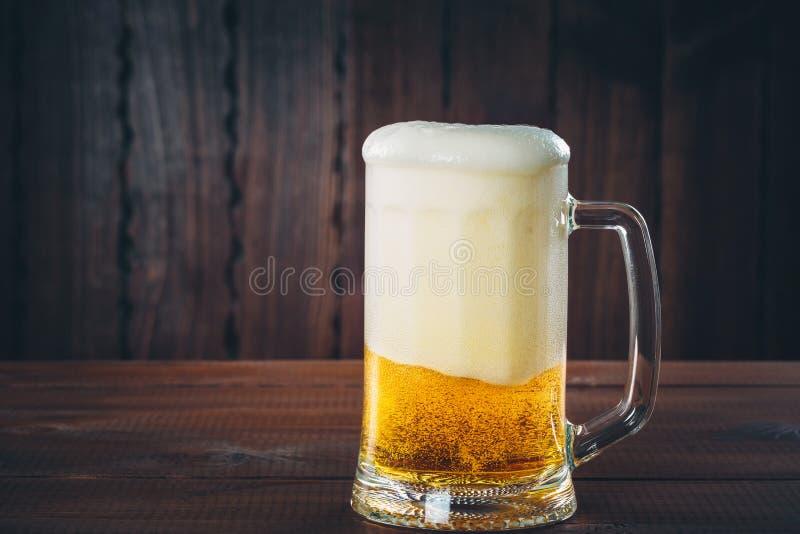 Mok bier royalty-vrije stock foto