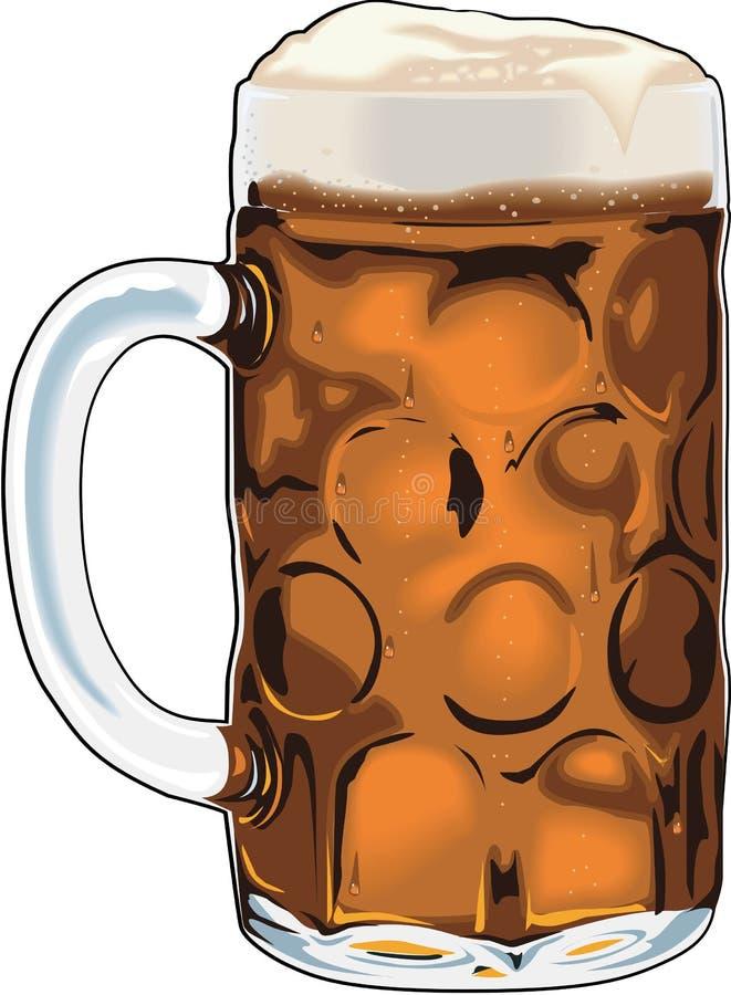 Mok Bier Vectorillustratie vector illustratie