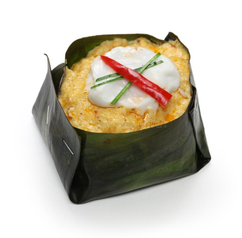 Mok de Hor, nourriture thaïlandaise photographie stock libre de droits