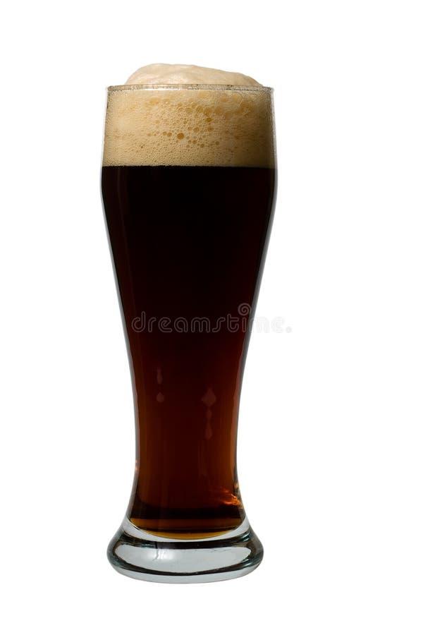 Mok donker bier royalty-vrije stock afbeeldingen