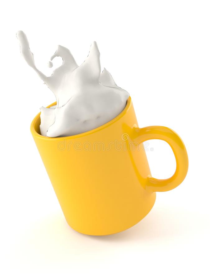 Mok melk stock illustratie