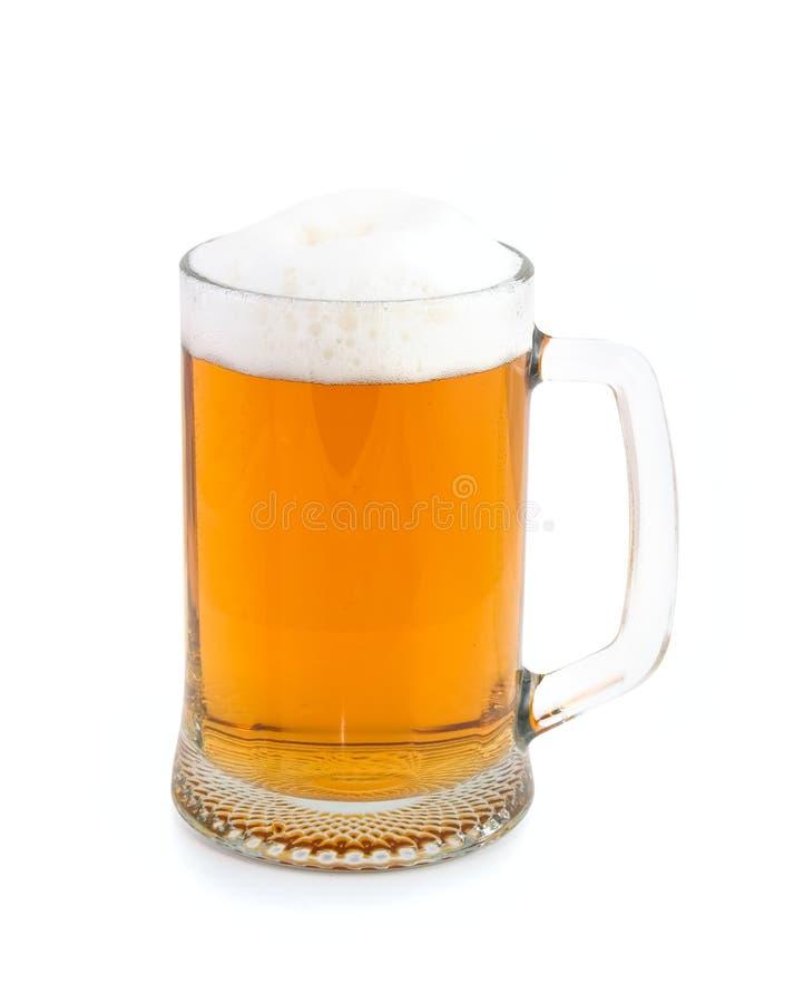 Mok met bier royalty-vrije stock foto