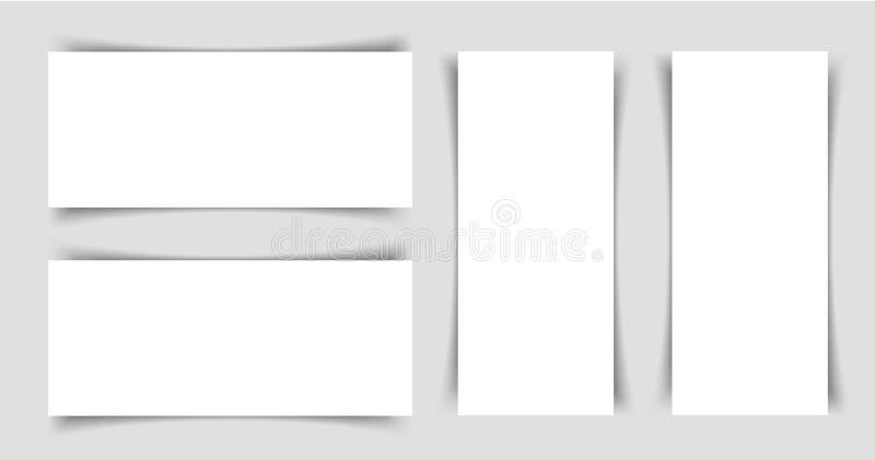 Mok-op van smalle horizontale en horizontale vliegers stock illustratie