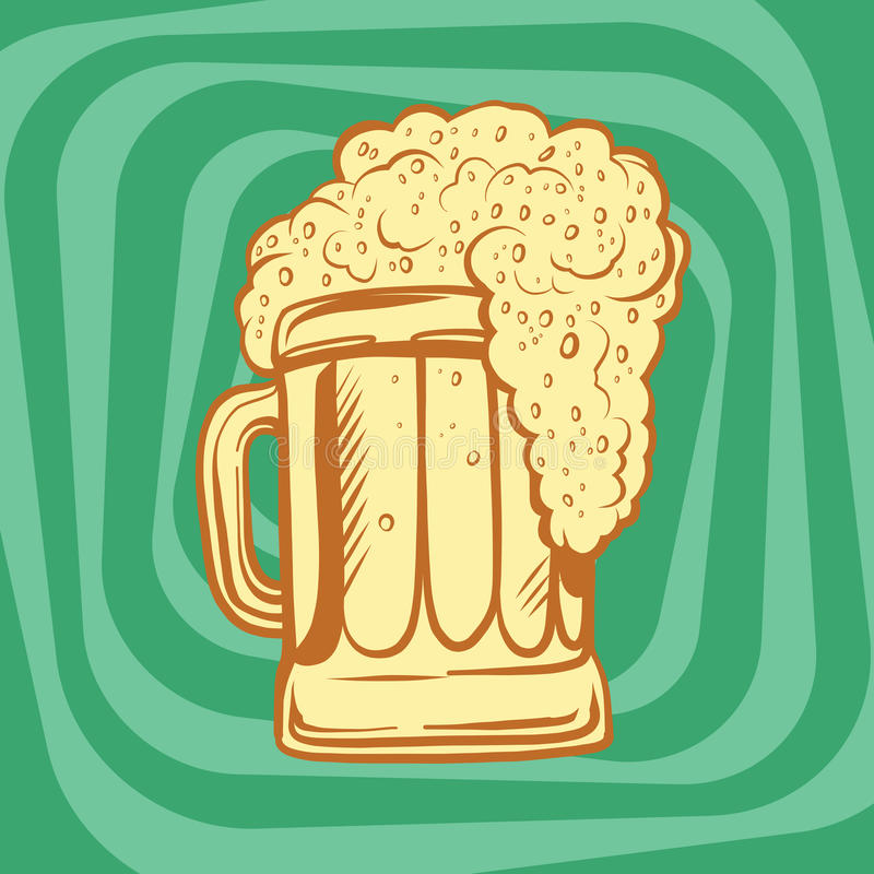 Mok schuimend bier royalty-vrije illustratie