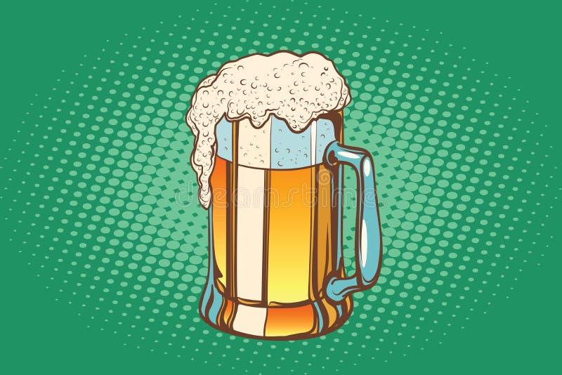 Mok schuimend bier vector illustratie