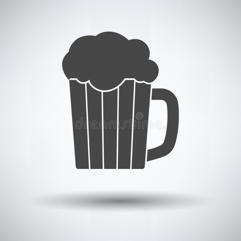 Mok van bierpictogram vector illustratie