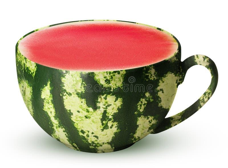 Mok van rijpe watermeloen royalty-vrije stock foto's