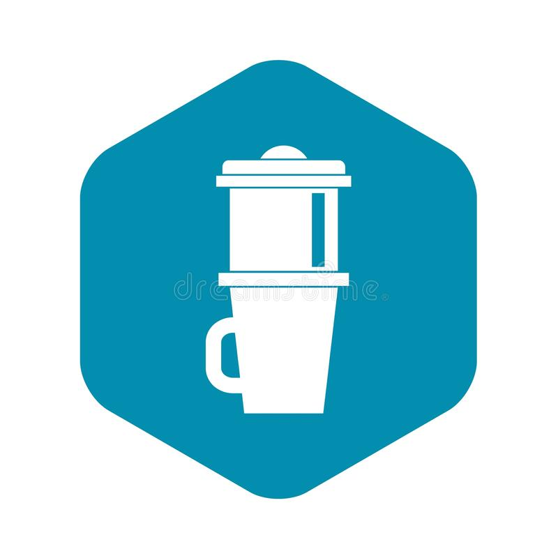 Mok voor koffiepictogram, eenvoudige stijl vector illustratie