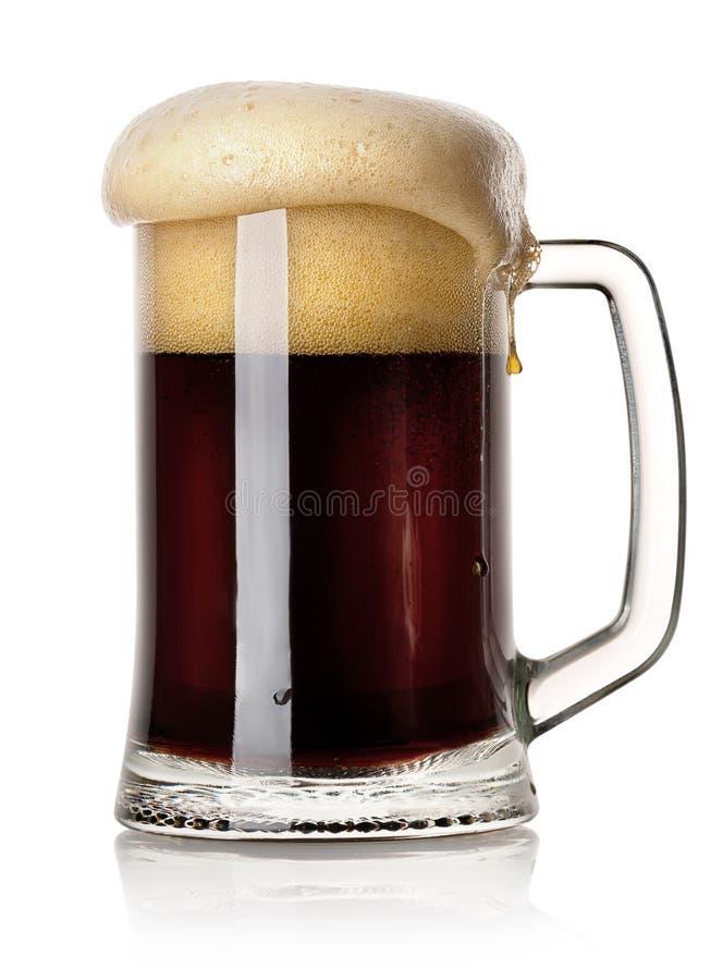 Mok zwart bier stock foto's