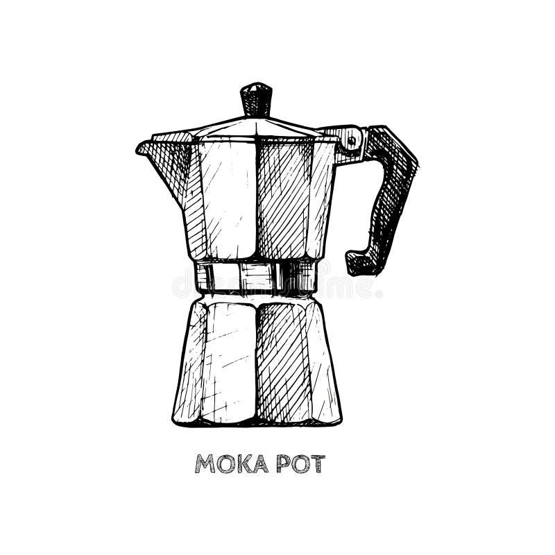 moka罐的例证 向量例证