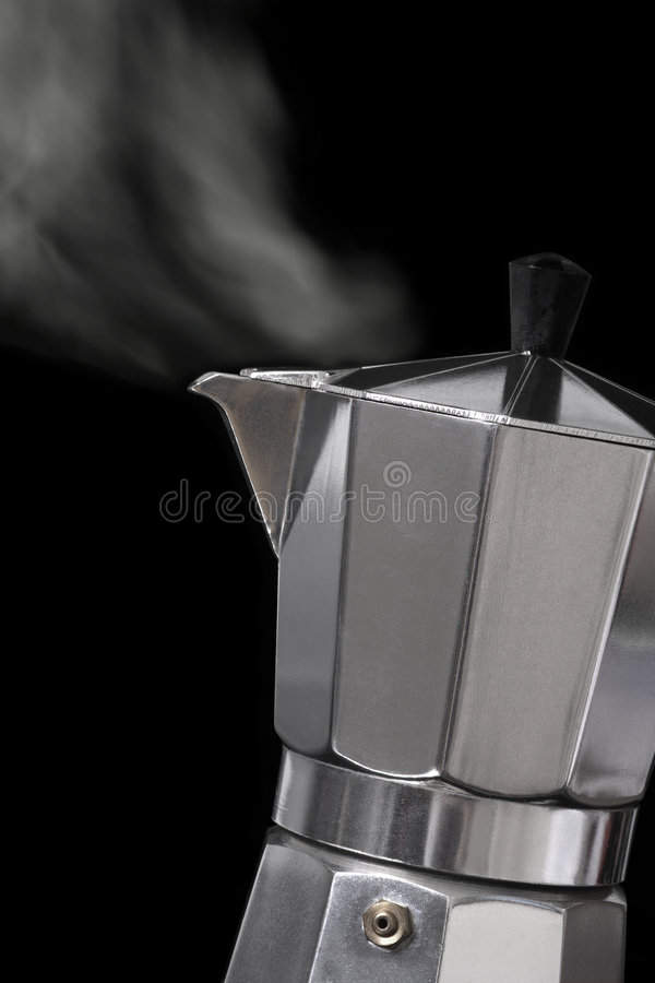 Moka express coffee maker royalty free stock photos