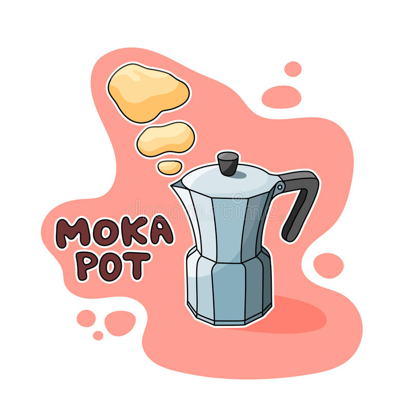 Moka-Topf-Illustration lizenzfreies stockbild