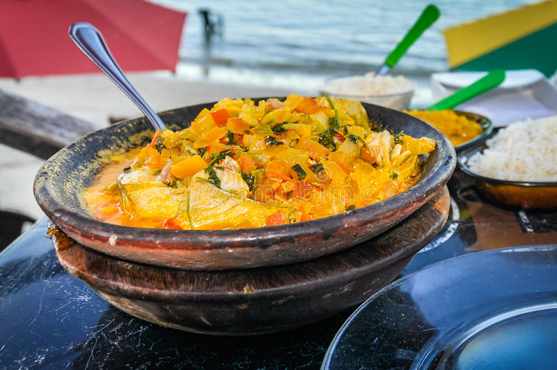 Mokeka, alimento tradicional em Morro de Sao Paulo, Brasil imagem de stock royalty free
