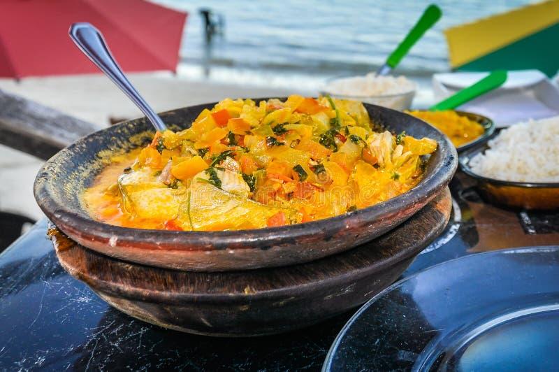 Mokeka, tradycyjny jedzenie w Morro de Sao Paulo, Brazylia obraz royalty free