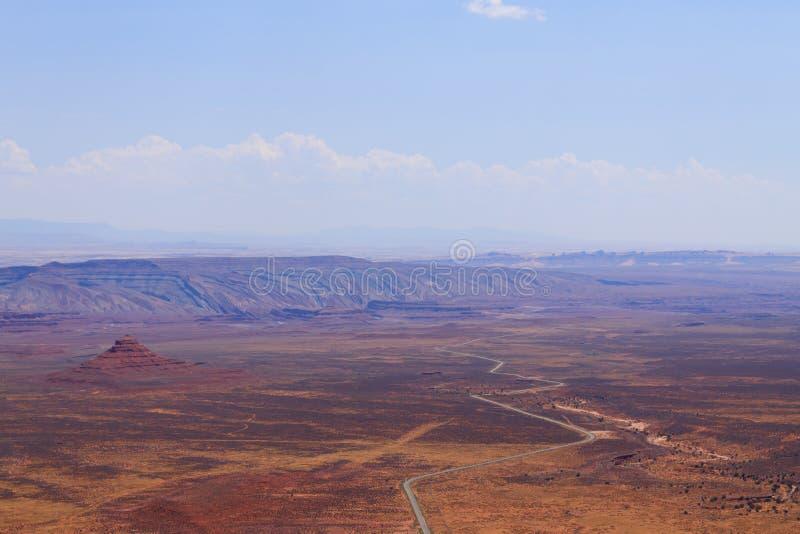 Moki Dugway, Muley-Punkt übersehen lizenzfreies stockbild