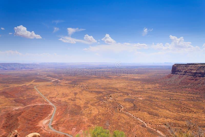 Moki Dugway, Muley-Punkt übersehen lizenzfreies stockfoto