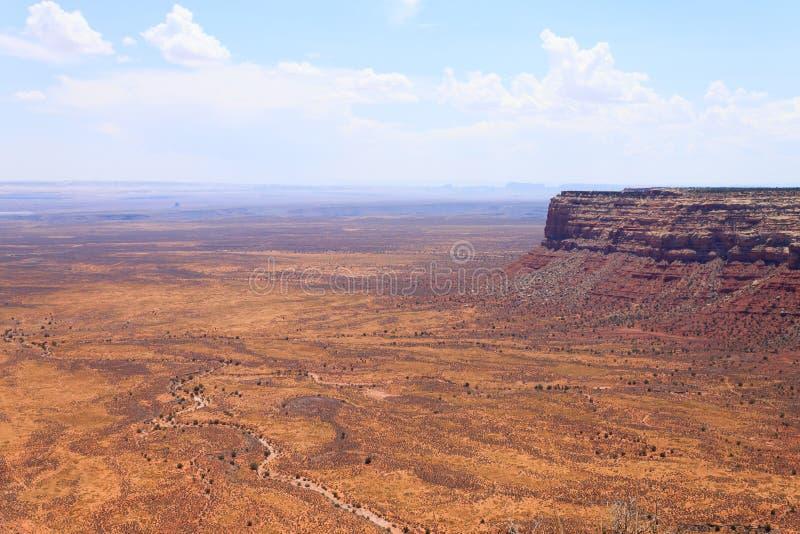 Moki Dugway, Muley punkt förbiser royaltyfri bild