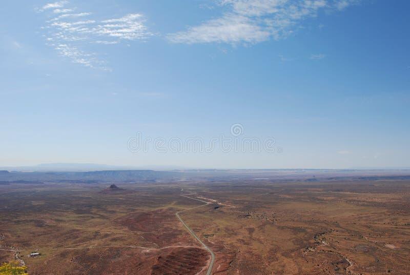 Moki Dugway, ponto de Muley, vale dos deuses fotografia de stock