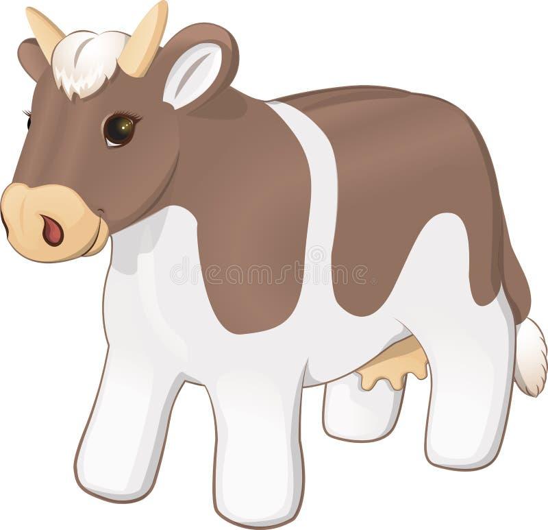 Mokiet zabawkarska krowa royalty ilustracja