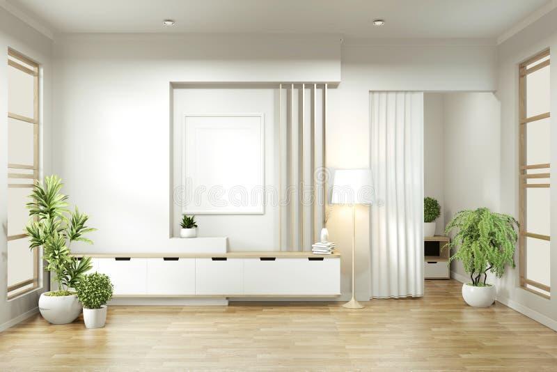 Mokje omhoog - Een minimaal ontwerp voor de lege ruimte 3D-rendering stock illustratie
