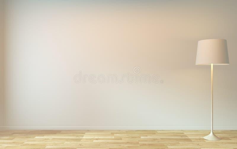 Mokje omhoog - Een minimaal ontwerp voor de lege ruimte 3D-rendering royalty-vrije illustratie