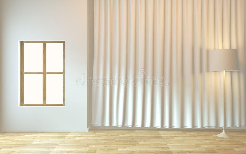 Mokje omhoog - Een minimaal ontwerp voor de lege ruimte 3D-rendering vector illustratie