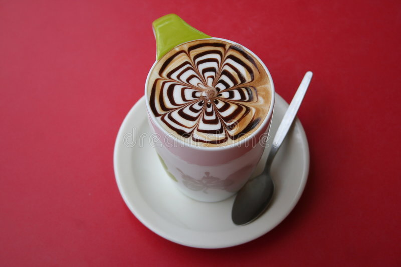 Mokka latte stockfoto
