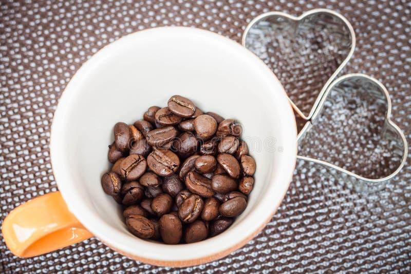 Mokkop van koffieboon stock foto