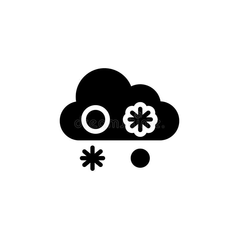 Mokra śnieg chmury ikona Element pogodowa ilustracja Znaki i symbole mogą używać dla sieci, logo, mobilny app, UI, UX ilustracji